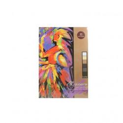 """Планшет для пастели """"Сладкие грезы"""" А4, 160г/м2, """"Холст"""", 18листов,  6цветов"""
