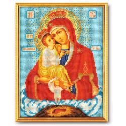 Почаевская Богородица, набор для вышивания бисером 20х27см Радуга Бисера