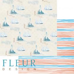 Круиз, коллекция Морская прогулка, бумага для скрапбукинга 30x30см, 190г/м Fleur Design