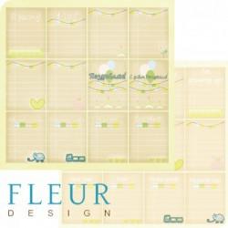 Карточки, коллекция Я расту, бумага для скрапбукинга 30x30см, 190г/м Fleur Design