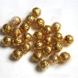 Золото, бусины ажурные 6мм 10шт, Zlatka