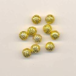 Золото, бусины ажурные 10мм 10шт, Zlatka
