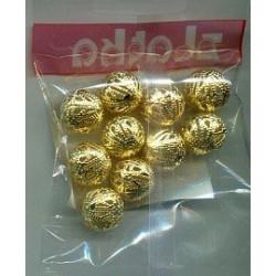 Золото, бусины ажурные 16мм 10шт, Zlatka