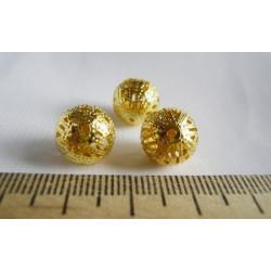 Золото, бусины ажурные 12мм 10шт, Zlatka