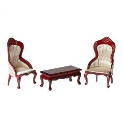 Набор 2 кресла с чайным столиком, махагон Art of Mini