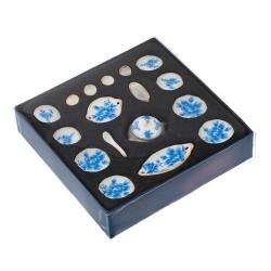 Набор фарфора миниатюрный обеденный, 17 предметов Голубые цветы Art of Mini