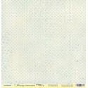 Синий горошек из коллекции Корица, лист односторонней бумаги 30х30см, 190гр/м Scrapmir