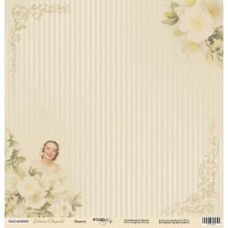 Невеста из коллекции Наша Свадьба, лист односторонней бумаги 30х30см, 190гр/м Scrapmir