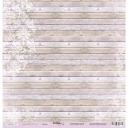 Доски из коллекции Сиреневые мечты, лист односторонней бумаги 30х30см, 190гр/м Scrapmir