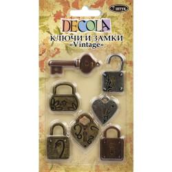 "Ключи и замки ""Vintage"", 7 шт. Decola"