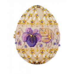"""Яйцо """"Фиалки"""", набор для бисероплетения. Риолис"""