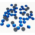 Т.голубой, стразы клеевые 3.1 мм, акрил, 144 шт, Zlatka