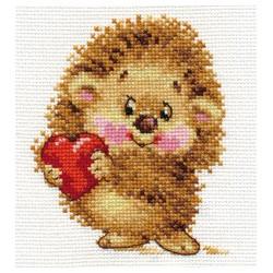Моя любовь, набор для вышивания крестиком, 10х12см, 12цветов Алиса