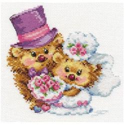 Навсегда, набор для вышивания крестиком, 16х15см, 24цвета Алиса