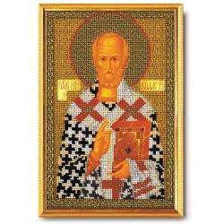 Николай Чудотворец, набор для вышивания бисером 17х26см Радуга Бисера