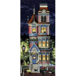 Викторианское очарование, набор для вышивания крестиком, 20х43см, 27цветов Dimensions