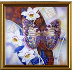 ВДОХНОВЕНИЕ.Крылатая красавица, набор для вышивания бисером, 25х27см, 7цветов НоваСлобода