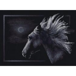 Лунный конь, набор для вышивания крестиком, 31х24см, 7цветов Panna