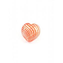 Оранжевый, бусины стеклянные на нити 20х20мм, 6шт, Zlatka
