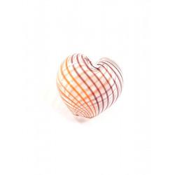 Оранжевый/коричневый, бусины стеклянные на нити 20х20мм, 6шт, Zlatka