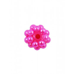 Яр.розовый, бусины пластик 10 мм 15шт, Zlatka