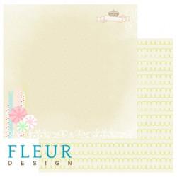 Сладости, коллекция Детская, бумага для скрапбукинга 30x30см, 190г/м Fleur Design