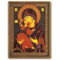 Владимирская Богородица, набор для вышивания бисером 18х25см Радуга Бисера