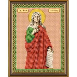 Анна Пророчица Св., ткань с рисунком для вышивания бисером 13х17см
