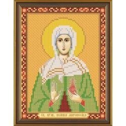 Жанна(Яна, Иоанна) Св.Прав., ткань с рисунком для вышивания бисером 13х17см