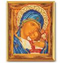 Умиление Богородица 2, набор для вышивания бисером 18х22см Радуга Бисера