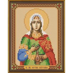 Светлана(Фотина) Св.Мч., ткань с рисунком для вышивания бисером 13х17см