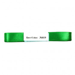 Зеленый, атласная лента 100% полиэстер ширина 12мм, длина 5.4м Gamma