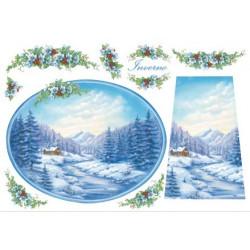 Зима, бумага рисовая для декупажа 48х33см 28г/м? Stamperia