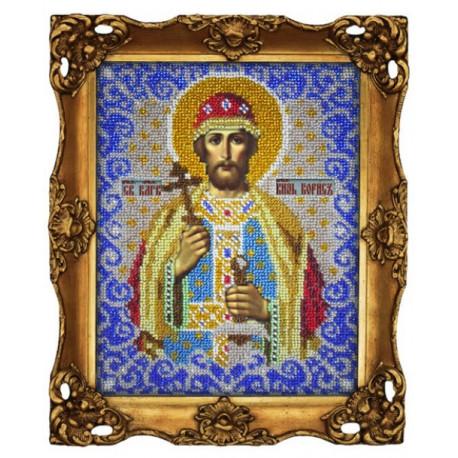 Борис святой, набор для вышивания бисером 18х23см, Вышиваем бисером