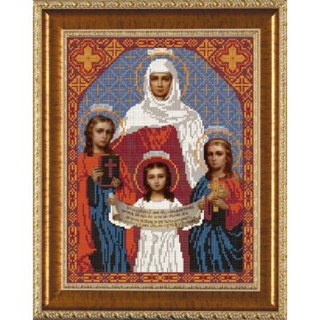 Вера. Надежда. Любовь, ткань с рисунком для вышивания бисером формат А3