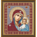 Богородица Казанская, ткань с рисунком для вышивания бисером формат А4