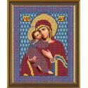 Богородица Владимирская, ткань с рисунком для вышивания бисером формат А4