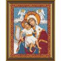Богородица Достойно Есть, ткань с рисунком для вышивания бисером формат А4