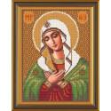 Богородица Умиление, ткань с рисунком для вышивания бисером формат А4