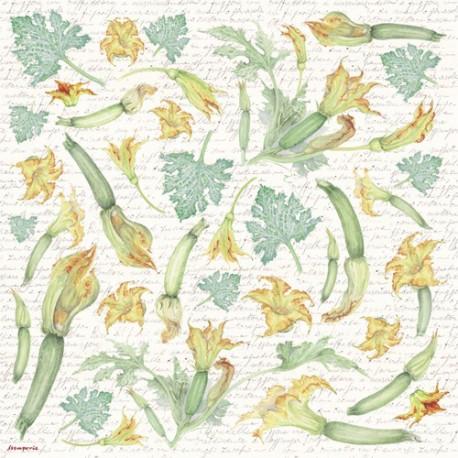 """Салфетка рисовая для декупажа """"Белые орхидеи"""", 1 лист, 50x50 см"""