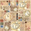 """Салфетка рисовая для декупажа """"Часы"""", 1 лист, 50x50 см"""