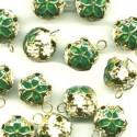 Зеленый, бубенчики резные 12 мм 10 шт Zlatka