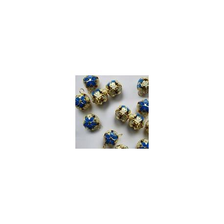 Синий, бубенчики резные 12 мм 10 шт Zlatka