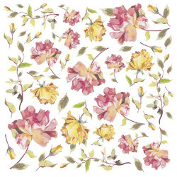 """Салфетка рисовая для декупажа """"Желтые розы"""", 1 лист, 50x50 см"""