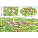 Тосканская деревня, бумага рисовая для декупажа 48х33см 28г/м? Stamperia