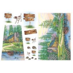 Пейзаж, бумага рисовая для декупажа 48х33см 28г/м? Stamperia