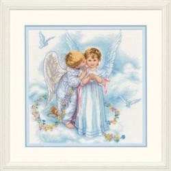 Поцелуи ангелов, набор для вышивания крестиком, 30х30см, Dimensions