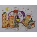 Осенняя пора, набор для вышивания нитками и бисером 35х25см 20+6цветов, Марья Искусница
