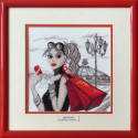 Москва, по рисунку О.Куреевой набор для вышивания нитками 25х25см 13цветов, Марья Искусница