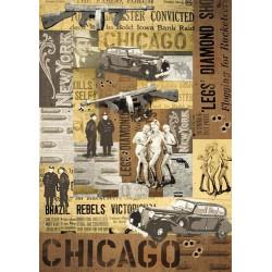 Карта для декупажа Чикаго, 1 лист, 50х70 см, 80 гр.